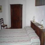 Camera matrimoniale dell'appartamento le Cime da sei persone